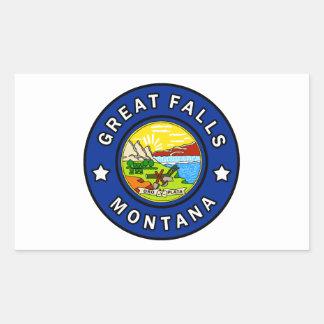 Pegatina Rectangular Great Falls Montana