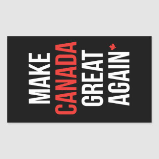 Pegatina Rectangular Haga Canadá el primer #MCGA de la bandera del gran