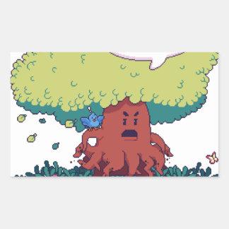 Pegatina Rectangular Haga como un árbol