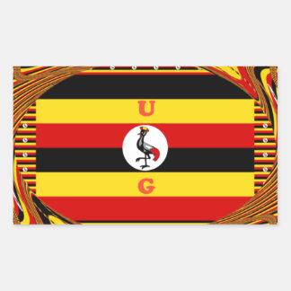 Pegatina Rectangular Hakuna asombroso hermoso Matata Uganda precioso