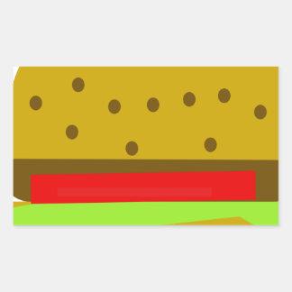 Pegatina Rectangular Hamburguesa de los alimentos de preparación rápida