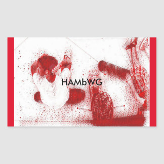 Pegatina Rectangular HAMbWG - pegatinas - huéspedes del patín que