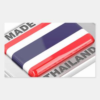 Pegatina Rectangular Hecho en Tailandia