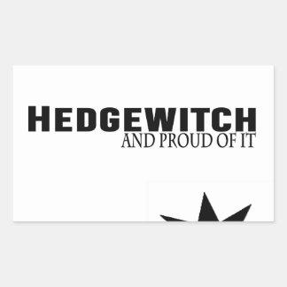Pegatina Rectangular Hedgewitch y orgulloso de él