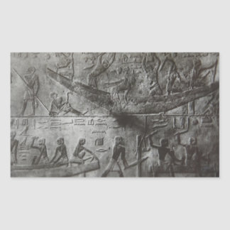 Pegatina Rectangular Hieroglyphics egipcios