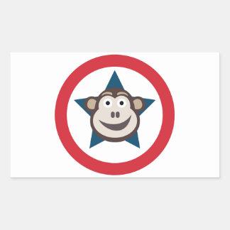 Pegatina Rectangular Hoja estupenda del mono de los pegatinas