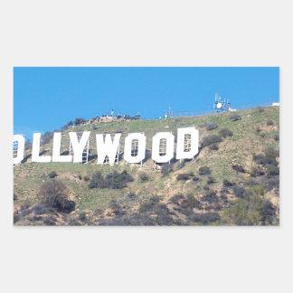 Pegatina Rectangular Hollywood Hills