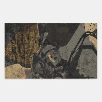 Pegatina Rectangular Hombre con la máscara protectora en la placa de