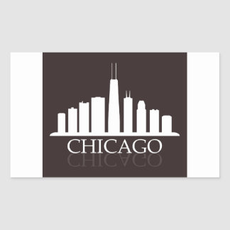 Pegatina Rectangular horizonte de Chicago