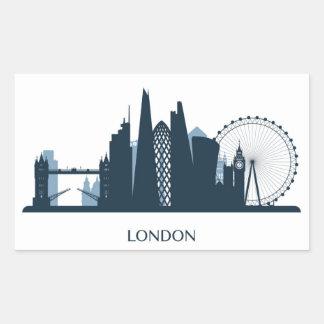 Pegatina Rectangular Horizonte de la ciudad de Londres