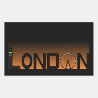 Pegatina Rectangular Horizonte de Londres