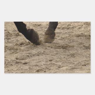 Pegatina Rectangular Horse hooves