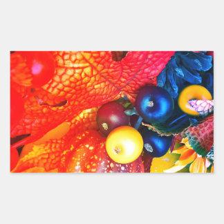 Pegatina Rectangular impresión del otoño