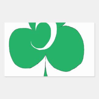 Pegatina Rectangular Irlandés afortunado 5 de los clubs, fernandes tony