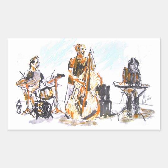 Pegatina Rectangular Jazz Trio Concert