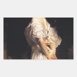 Pegatina Rectangular John Singer Sargent - Nancy Astor - bella arte
