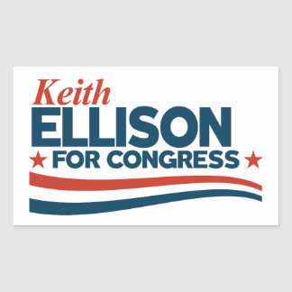 Pegatina Rectangular Keith Ellison
