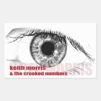 Pegatina Rectangular Keith Morris y los pegatinas torcidos de los