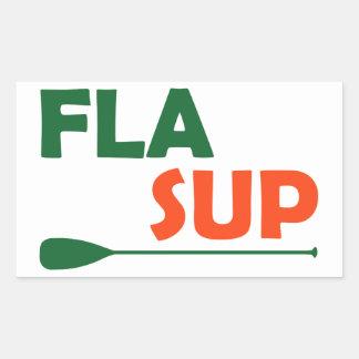 Pegatina Rectangular La Florida se coloca para arriba de batimiento