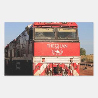 Pegatina Rectangular La locomotora del tren de Ghan, Darwin