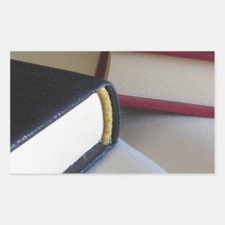 Pegatina Rectangular La segunda mano reserva con las páginas en blanco