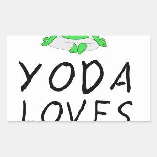 Pegatina Rectangular la yoga ama yoga
