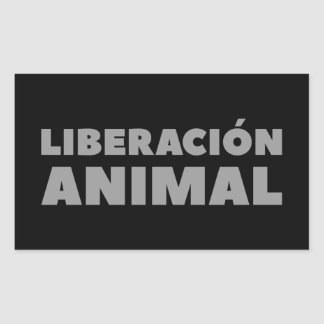 PEGATINA RECTANGULAR LIBERACIÓN ANIMAL