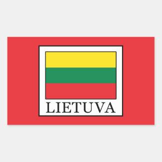 Pegatina Rectangular Lietuva