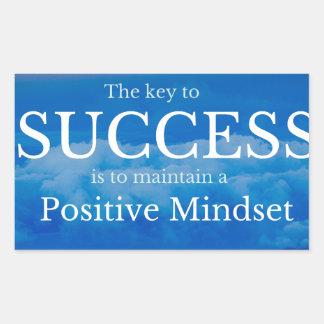 Pegatina Rectangular Llave a la cita inspirada del éxito