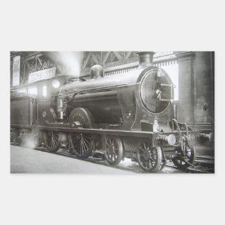 Pegatina Rectangular Locomotora de vapor (señora de Avenal)