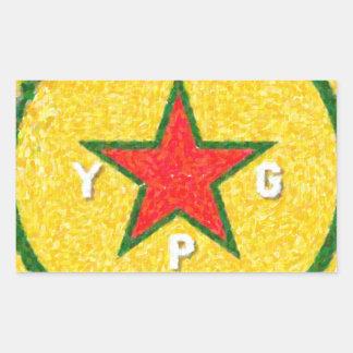 Pegatina Rectangular logotipo 3 del ypg