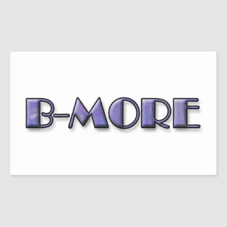 Pegatina Rectangular Logotipo de B-MORE