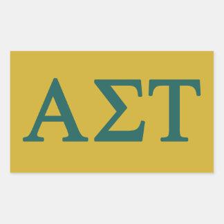 Pegatina Rectangular Logotipo grande alfa del Tau Lil de la sigma