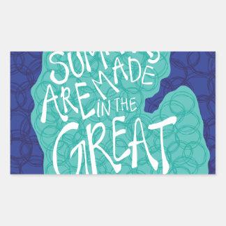 Pegatina Rectangular Los veranos se hacen en los Great Lakes - azul
