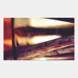 Pegatina Rectangular Macro abstracta