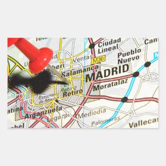 Pegatina Rectangular Madrid, España