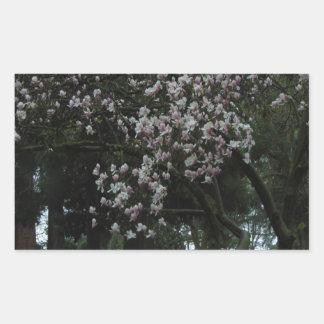 Pegatina Rectangular Magnolias para siempre