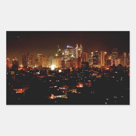 Pegatina Rectangular Manila
