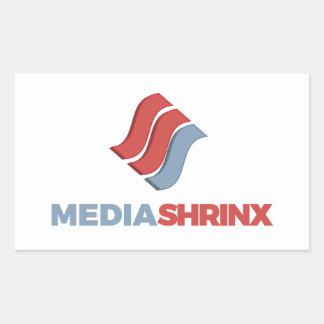 Pegatina Rectangular Marca de MediaShrinx
