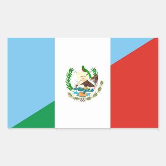 Pegatina Rectangular medio símbolo de la bandera de Guatemala México