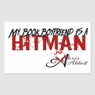 Pegatina Rectangular Mi novio del libro es Hitman