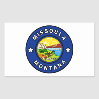 Pegatina Rectangular Missoula Montana