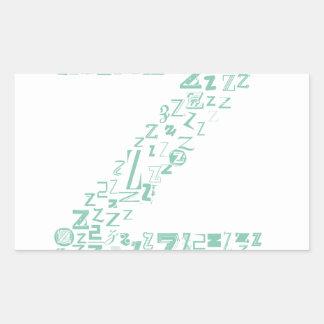 Pegatina Rectangular Moda Z de la fuente