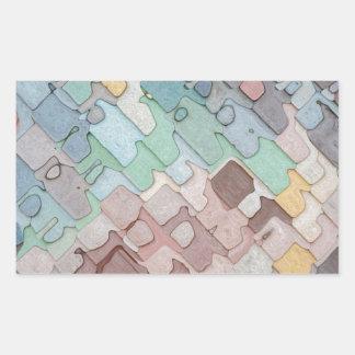Pegatina Rectangular Modelo colorido de las capas