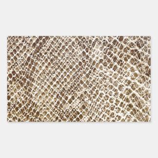 Pegatina Rectangular Modelo de la piel del reptil