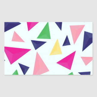 Pegatina Rectangular Modelo geométrico colorido II