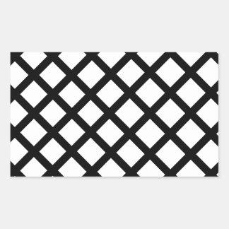 Pegatina Rectangular Modelo simple blanco y negro