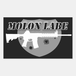 Pegatina Rectangular Molon Labe el | viene conseguirles el rifle del |