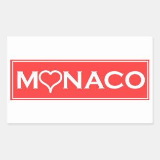 Pegatina Rectangular Mónaco