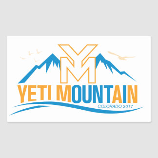Pegatina Rectangular Montaña Colorado 2017 de YetiMan